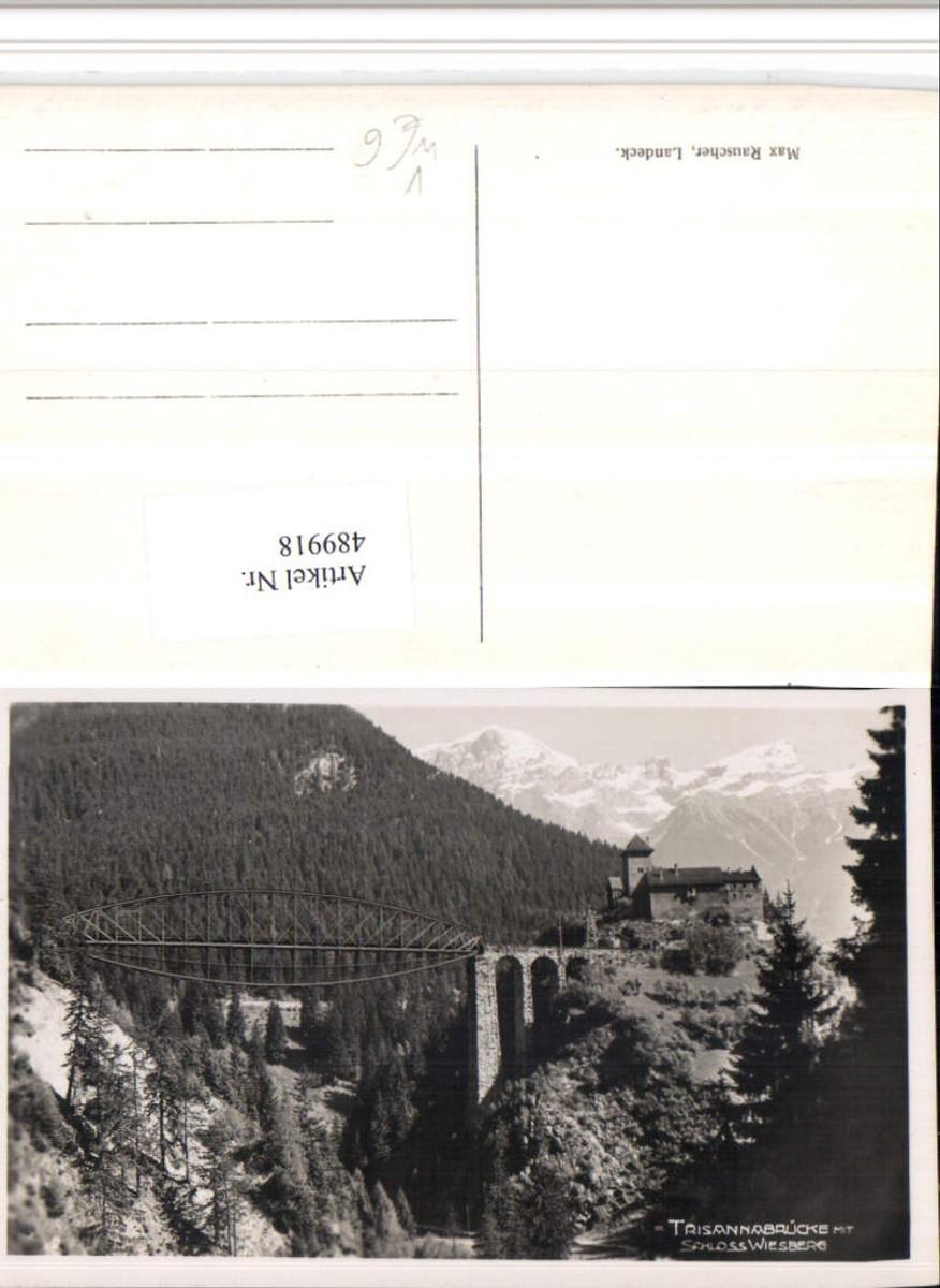 489918,Trisanna-Brücke b. Tobadill m. Schloss Wiesberg pub Max Rauscher günstig online kaufen