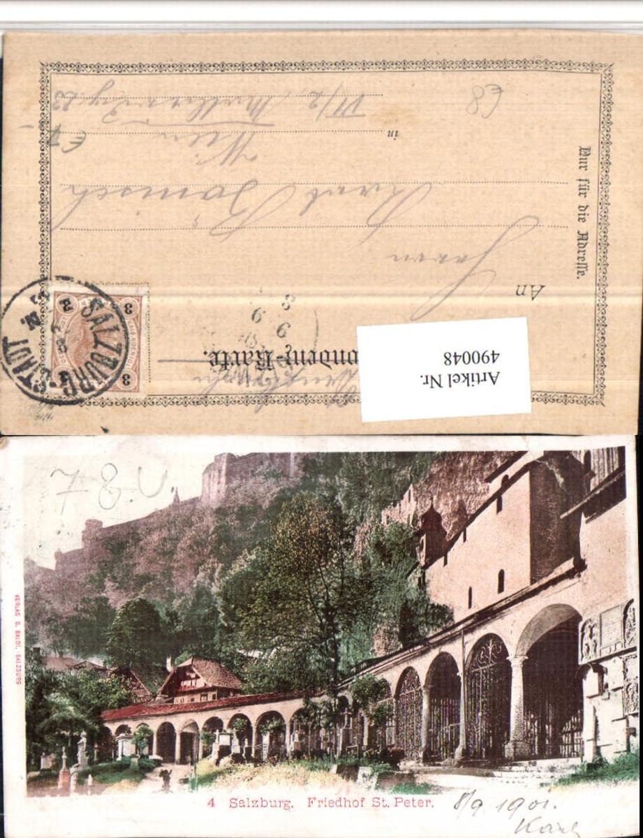 490048,Salzburg Friedhof St. Peter m. Festung pub G. Baldi günstig online kaufen