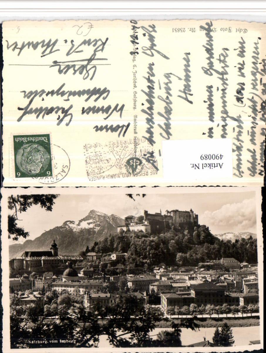 490089,Salzburg Teilansicht m. Festung vom Imberg Bergkulisse günstig online kaufen