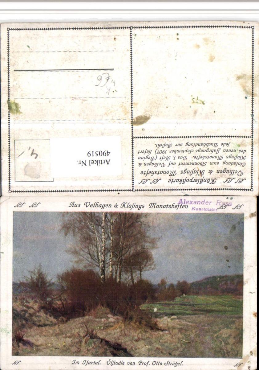 490519,Künstler AK Otto Strützel Isartal b. München Landschaft günstig online kaufen