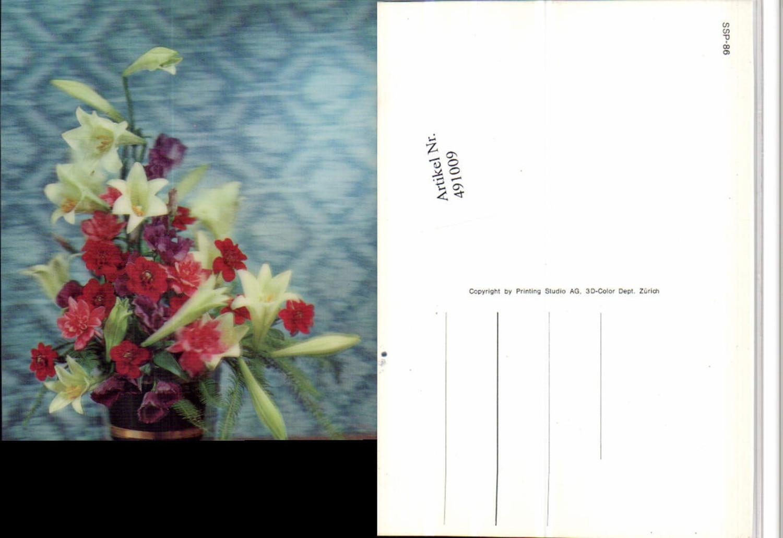 491009,3D 3 D 3-D Karte Wackelkarte Blumenstrauß Blumen günstig online kaufen