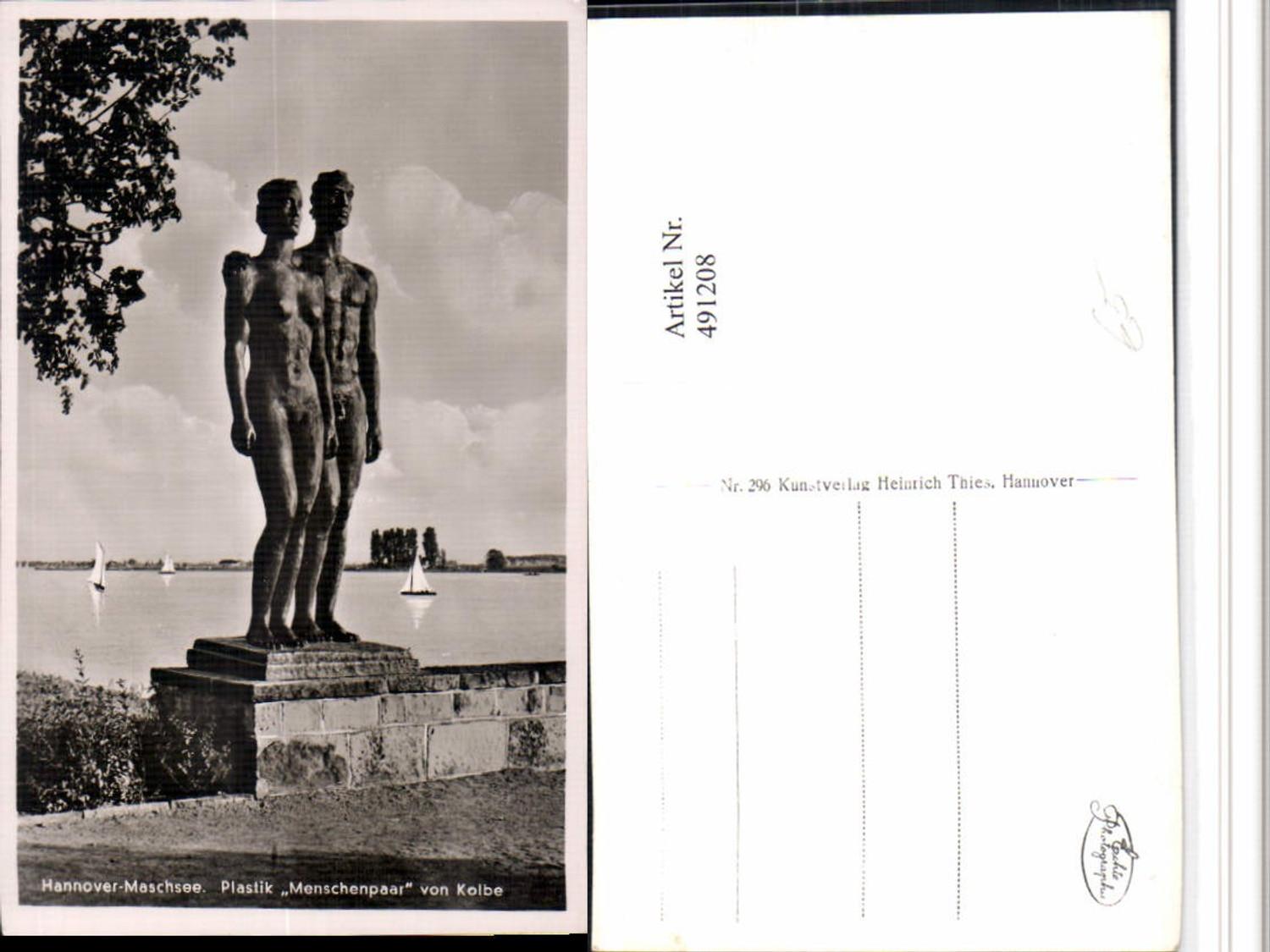 491208,Hannover Maschsee Plastik Menschenpaar Statue günstig online kaufen