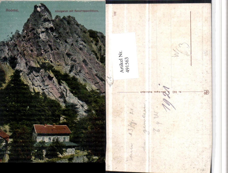 491563,Bodetal b. Thale im Harz Königsruh m. Rosstrappenfelsen Felsen günstig online kaufen