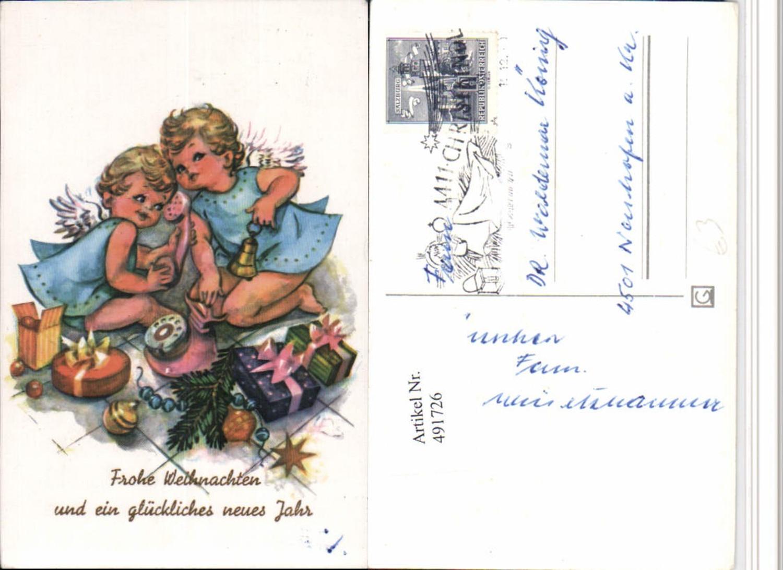 491726,Künstler AK Weihnachten Engeln Telefon Glocke Geschenke günstig online kaufen