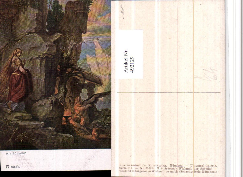 492129,Künstler AK M. v. Schwind Wieland Schmied pub Ackermann 2168b günstig online kaufen