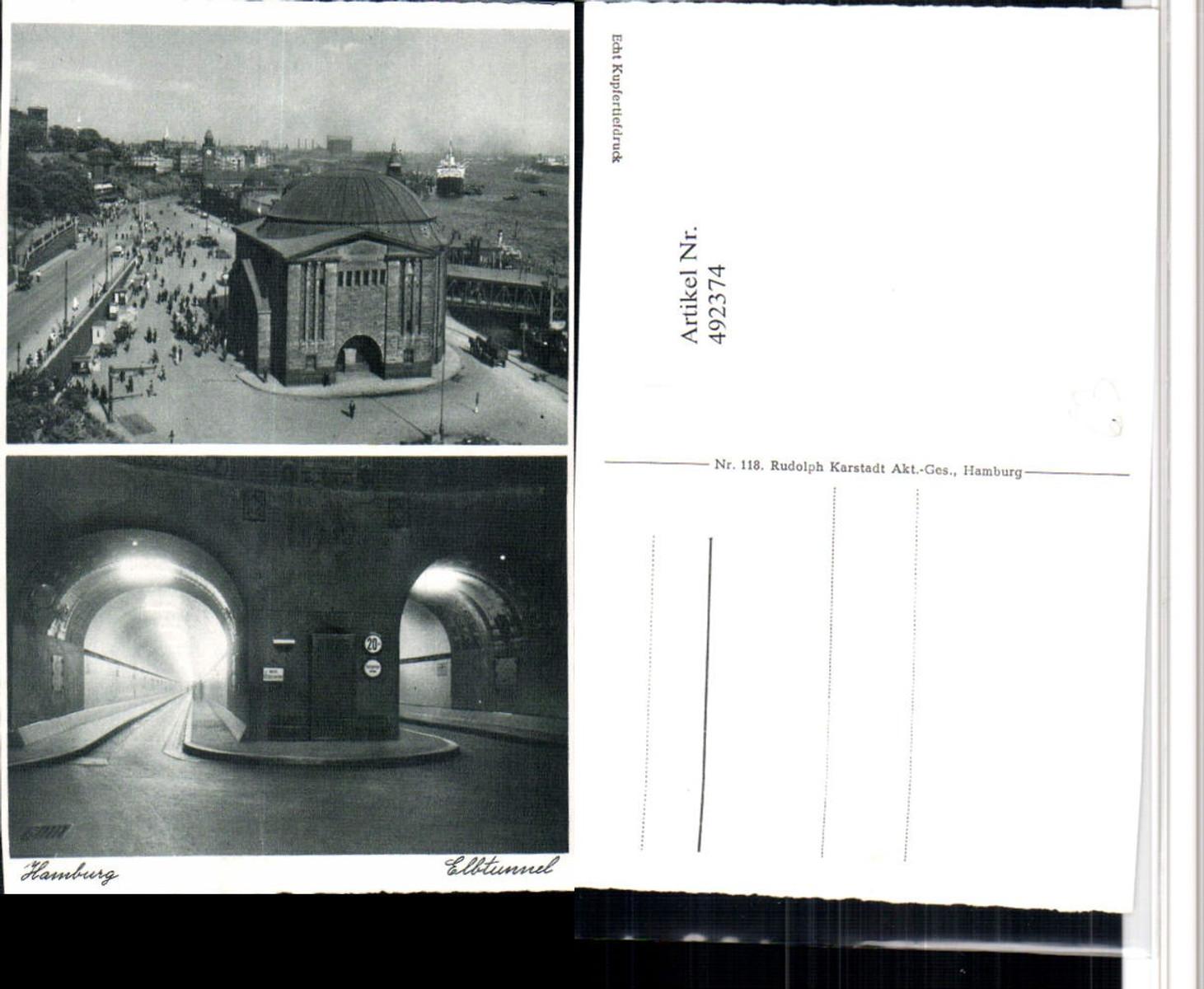 492374,Hamburg Elbtunnel Querschnitt Mehrbildkarte günstig online kaufen