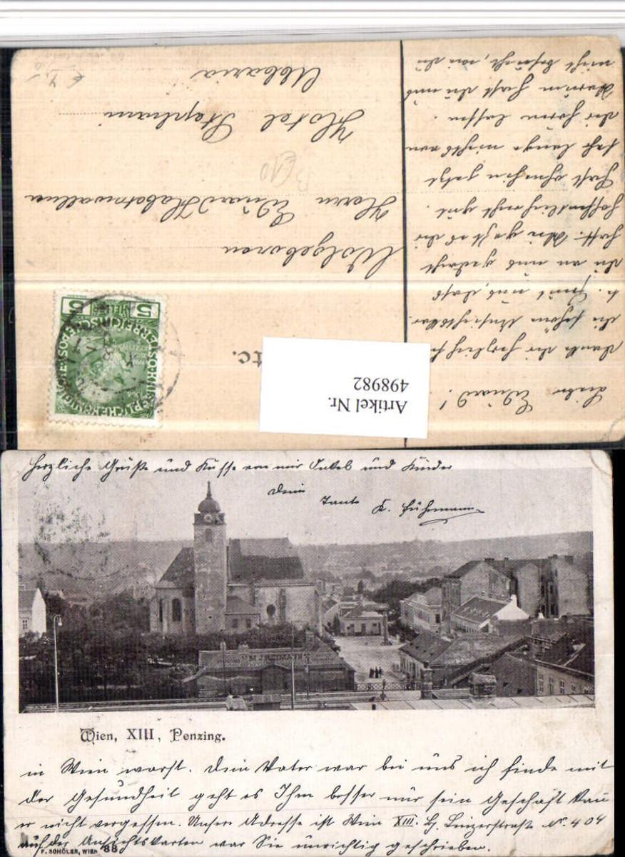 498982,Wien Penzing Teilansicht Kirche günstig online kaufen
