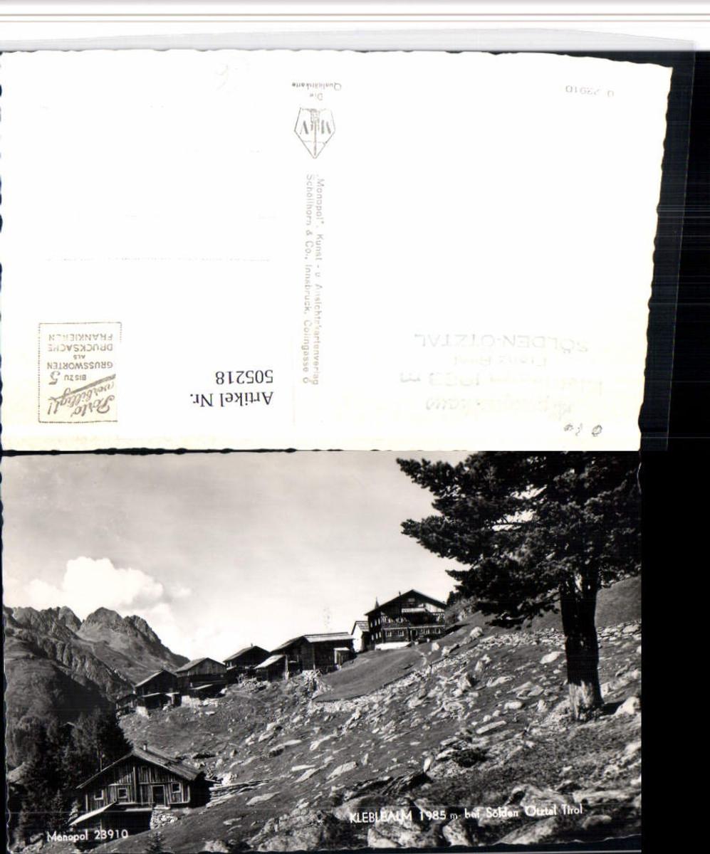 505218,Kleblealm b. Sölden Almhütten Bergkulisse günstig online kaufen