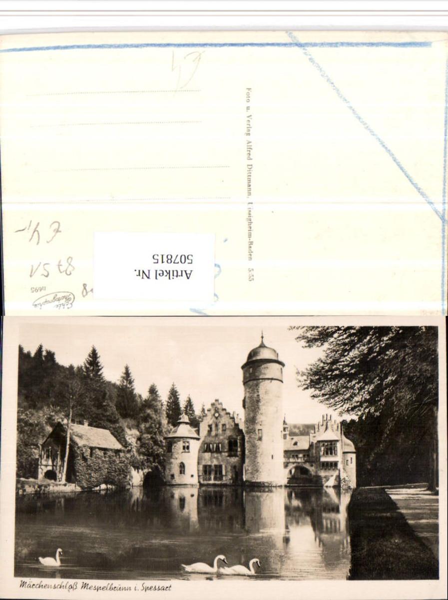 507815,Mespelbrunn im Spessart Märchenschloss Schwäne günstig online kaufen