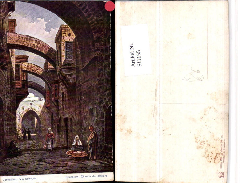 511155,Künstler AK F. Perlberg Israel Jerusalem Via dolorosa Gasse günstig online kaufen