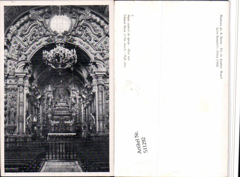511292,Brazil Rio de Janeiro Mosteiro de S. Bento Kirche Innenansicht günstig online kaufen