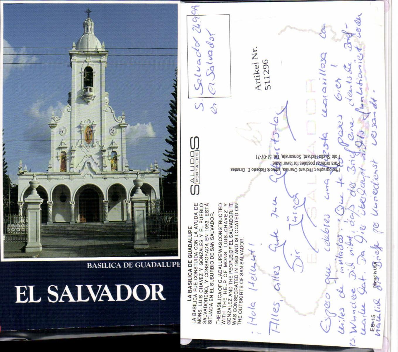 511296,El Salvador Basilica de Guadalupe Kirche günstig online kaufen