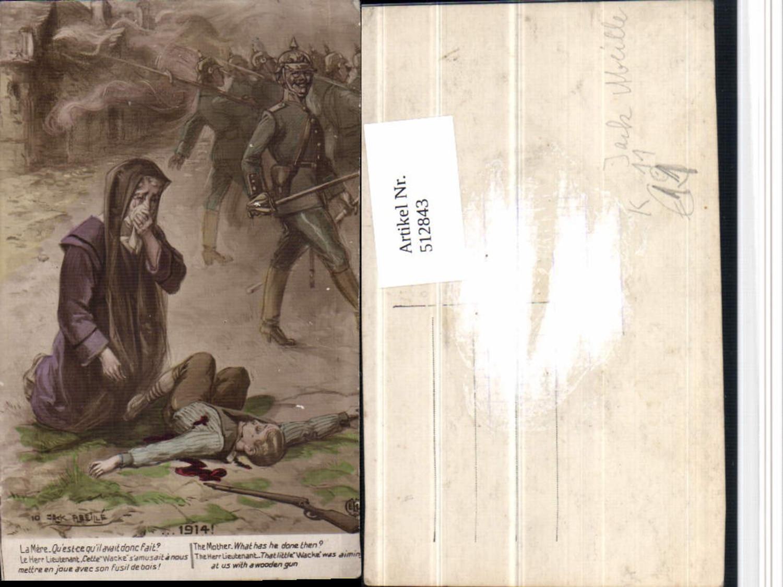 512843,Künstler AK Jack Abeille WW1 Soldatenleben Verletzer Trauer Soldaten günstig online kaufen