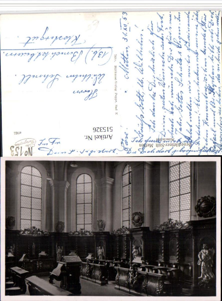 515326,Benediktiner-Stift Metten Innenansicht Mönchchor günstig online kaufen
