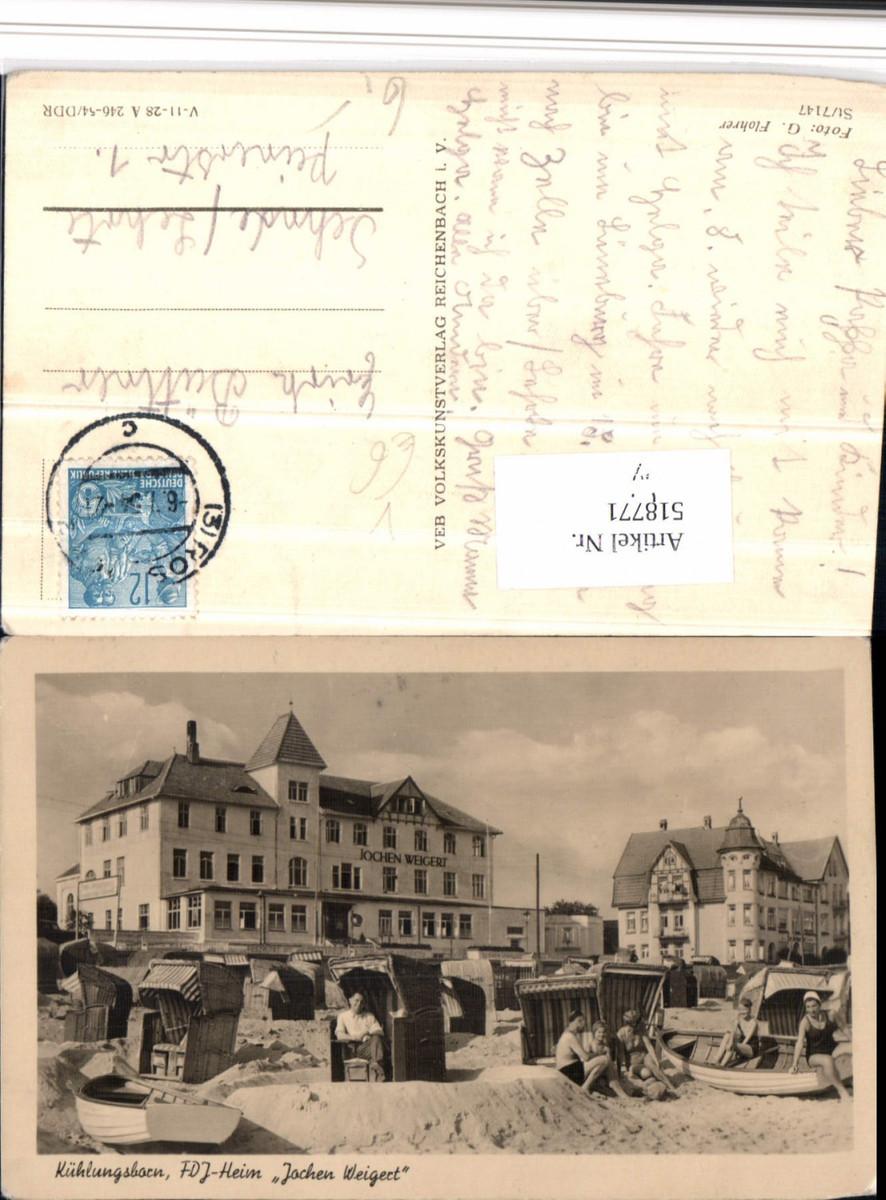 518771,Kühlungsborn Heim Jochen Weigert Strandleben Strandkörbe pub VEB günstig online kaufen