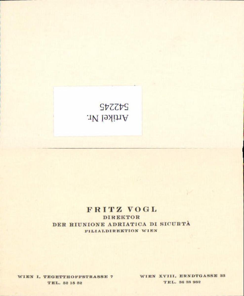 542245,Visitenkarte Wien Tegetthoffstrasse Fritz Vogl Währing 18 günstig online kaufen