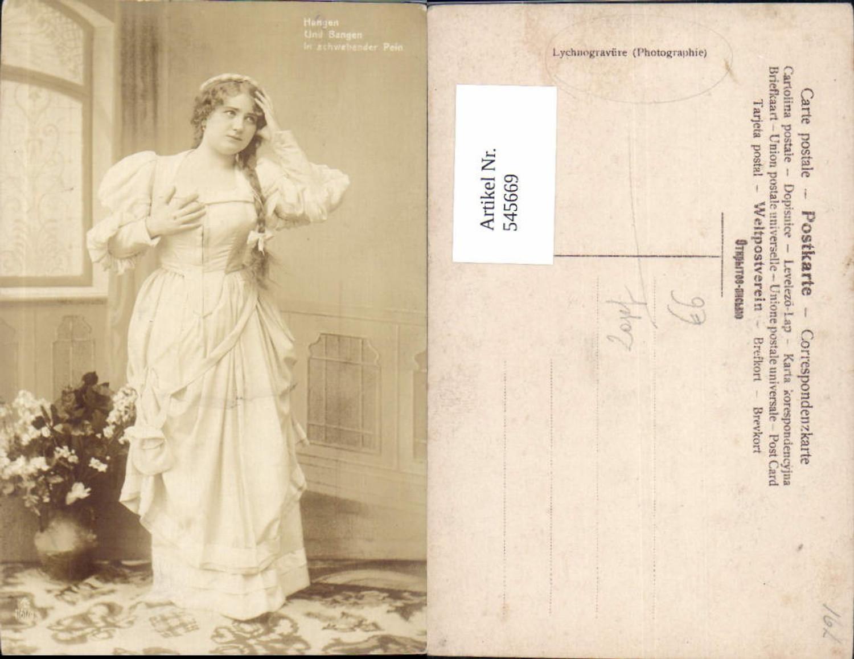 545669,Foto-AK Frau Frauen Zopf Theater Spruch Lychnogravüre günstig online kaufen