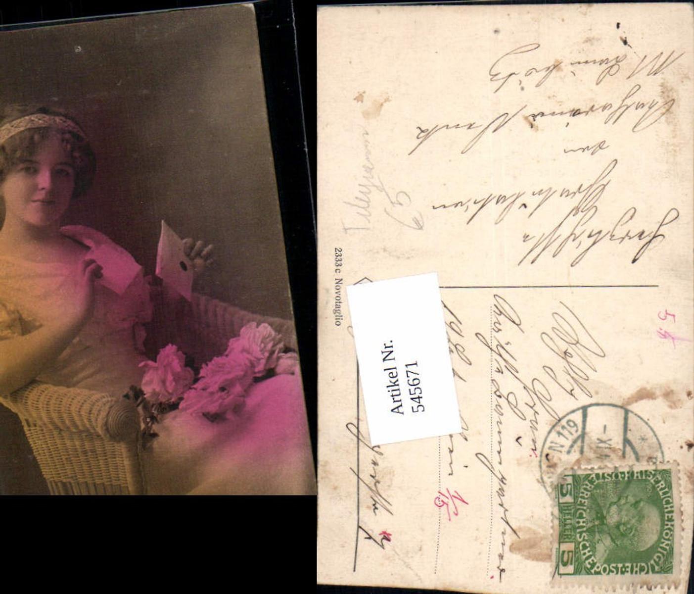 545671,Foto-AK Frau Frauen Brief  günstig online kaufen