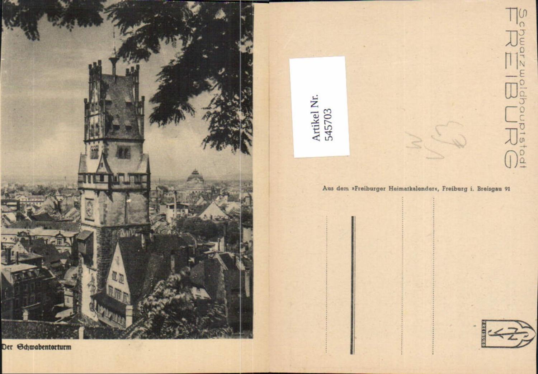 545703,Freiburg im Breisgau Blatt a. Freiburger Heimatkalender Torturm günstig online kaufen