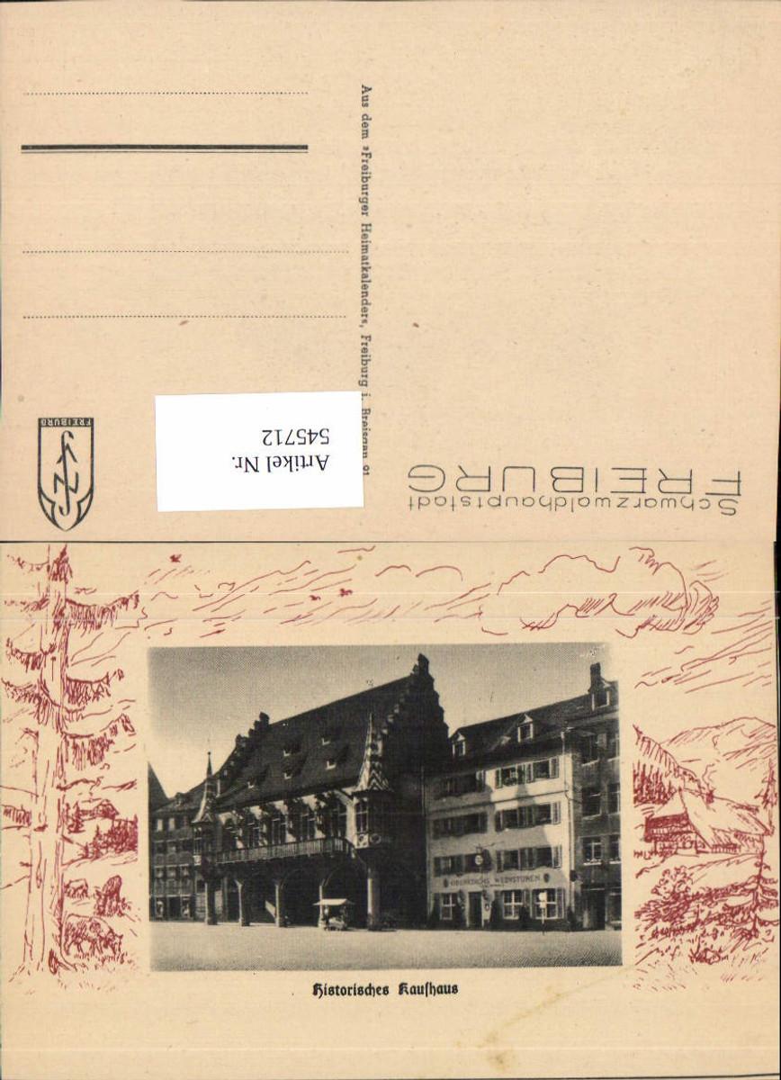 545712,Freiburg im Breisgau Blatt a. Freiburger Heimatkalender Kaufhaus günstig online kaufen