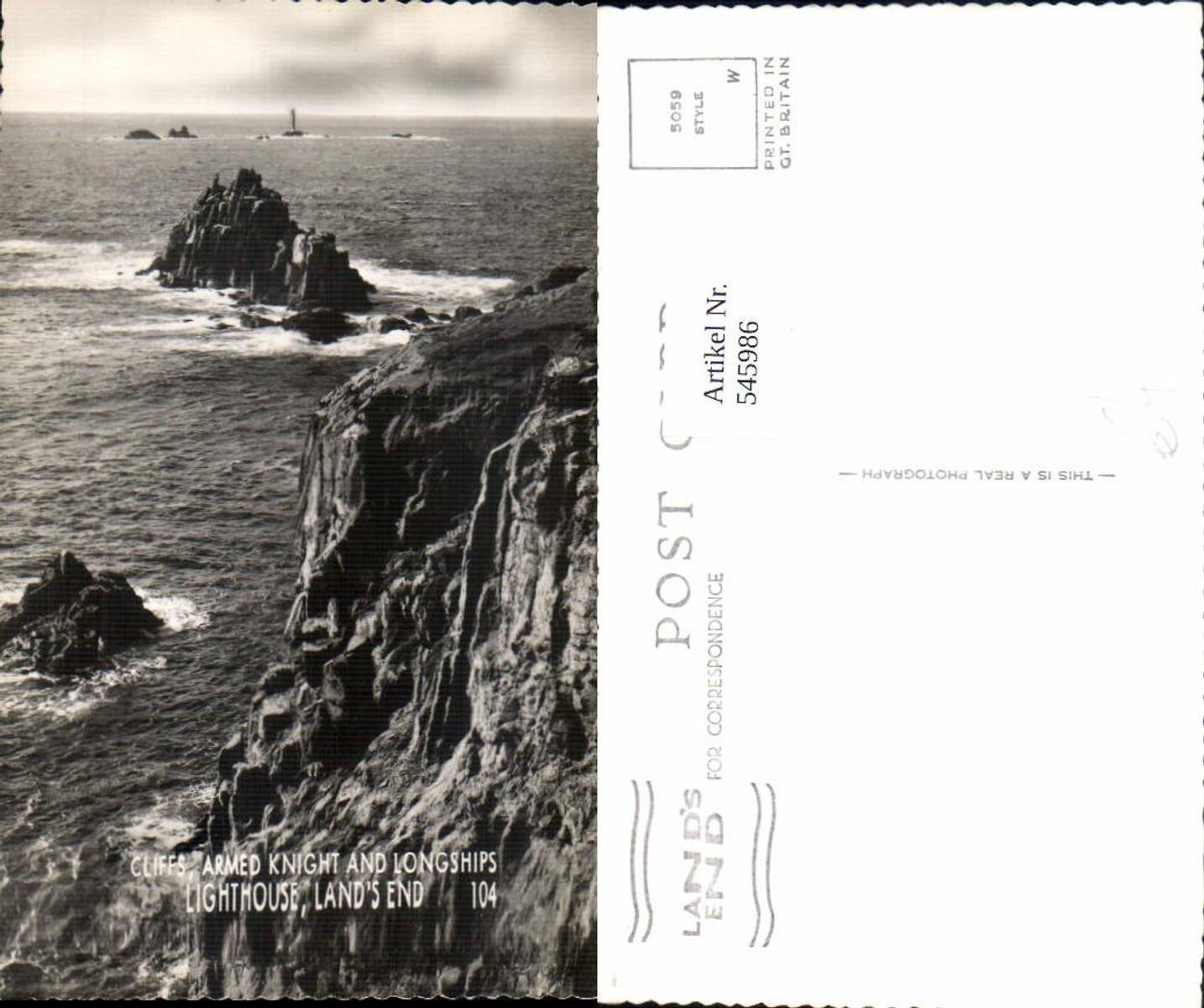 545986,England Land`s End Lighthouse Longships Penzance Cornwall günstig online kaufen