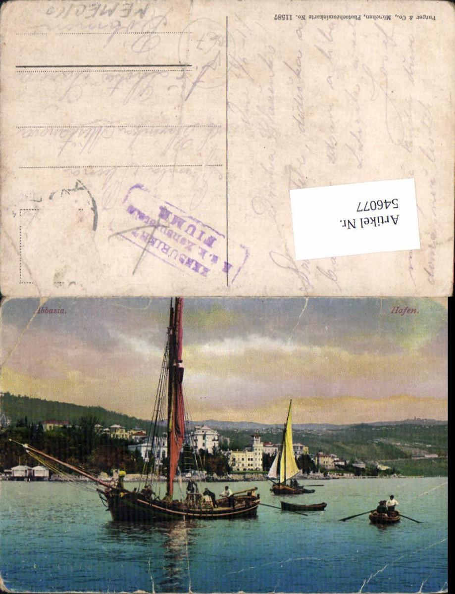 546077,Crotia Abbazia Zensuriert Fiume  pub Purger Co. 11587  günstig online kaufen