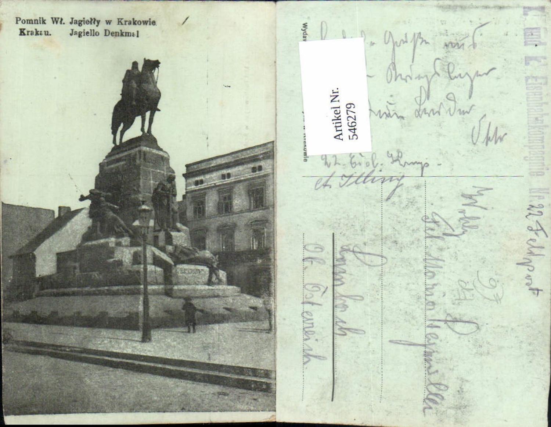 546279,Poland Krakau Krakow Jagiello Denkmal K.K. Feldpost Eisenbahnkompagnie Eisenbahn günstig online kaufen