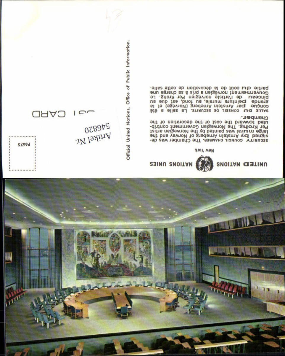 546820,New York City UN United Nations Security Council Chamber günstig online kaufen