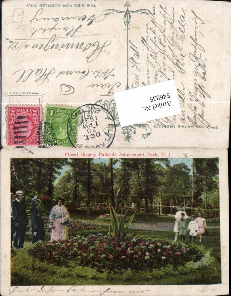 546835,New Jersey Palisades Park Bergen County Floral Display Palisade Amusement Park günstig online kaufen