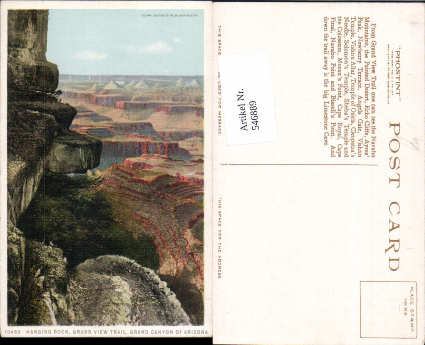 546889,Arizona Grand Canyon Hanging Rock Grand View Trail günstig online kaufen