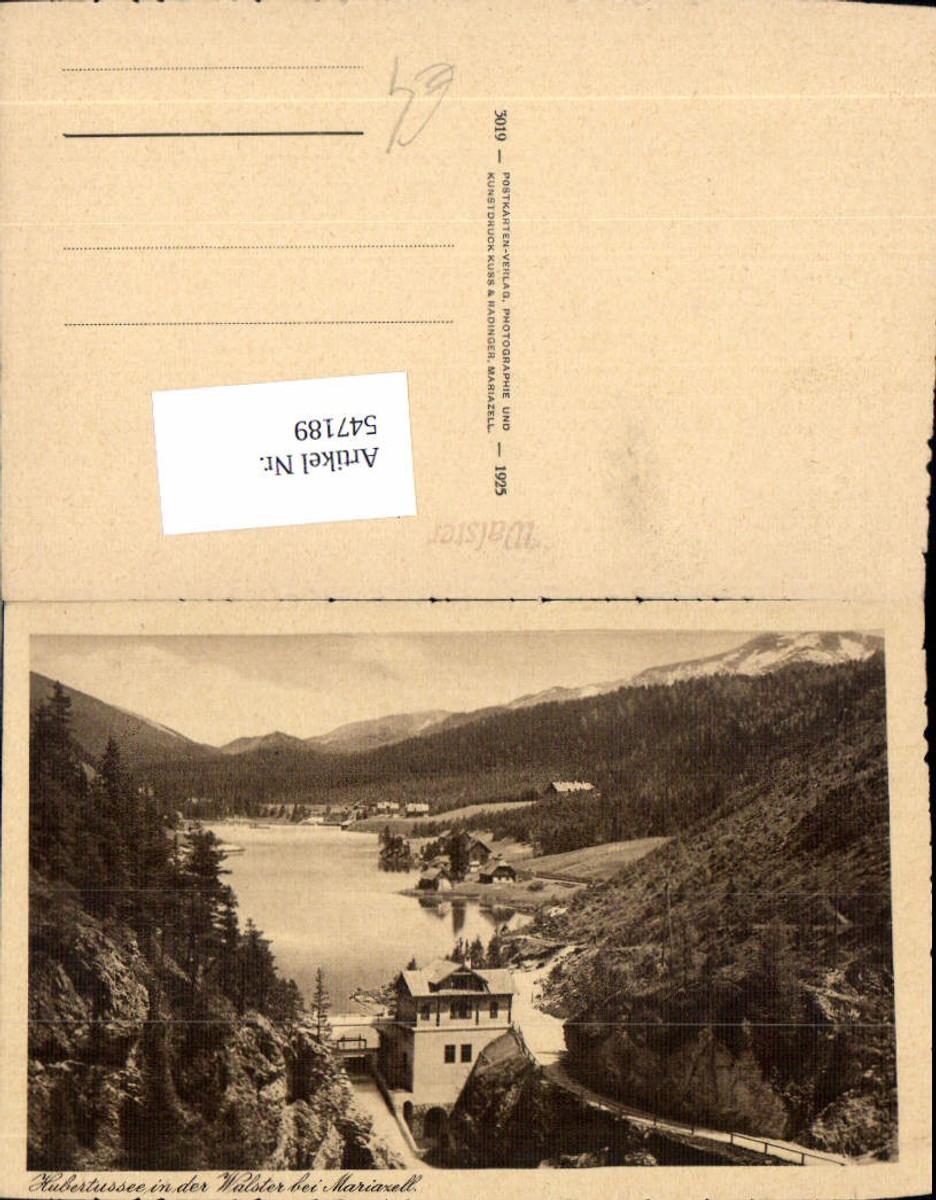 547189,Hubertussee in der Walster Mariazell Maria Zell Kraftwerk günstig online kaufen