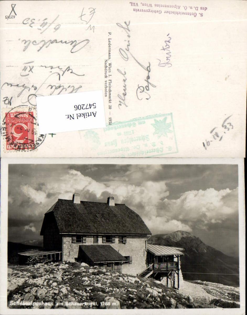 547206,Schneealpenhaus am Schauerkogel b. Kapellen Neuberg an der Mürz  günstig online kaufen