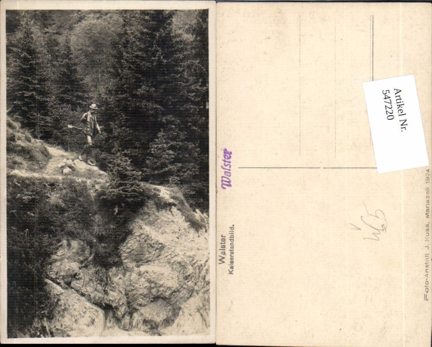 547220,Foto-AK Walster Mariazell Maria Zell Grünau Kaiserstandbild pub Kuss 1924 günstig online kaufen
