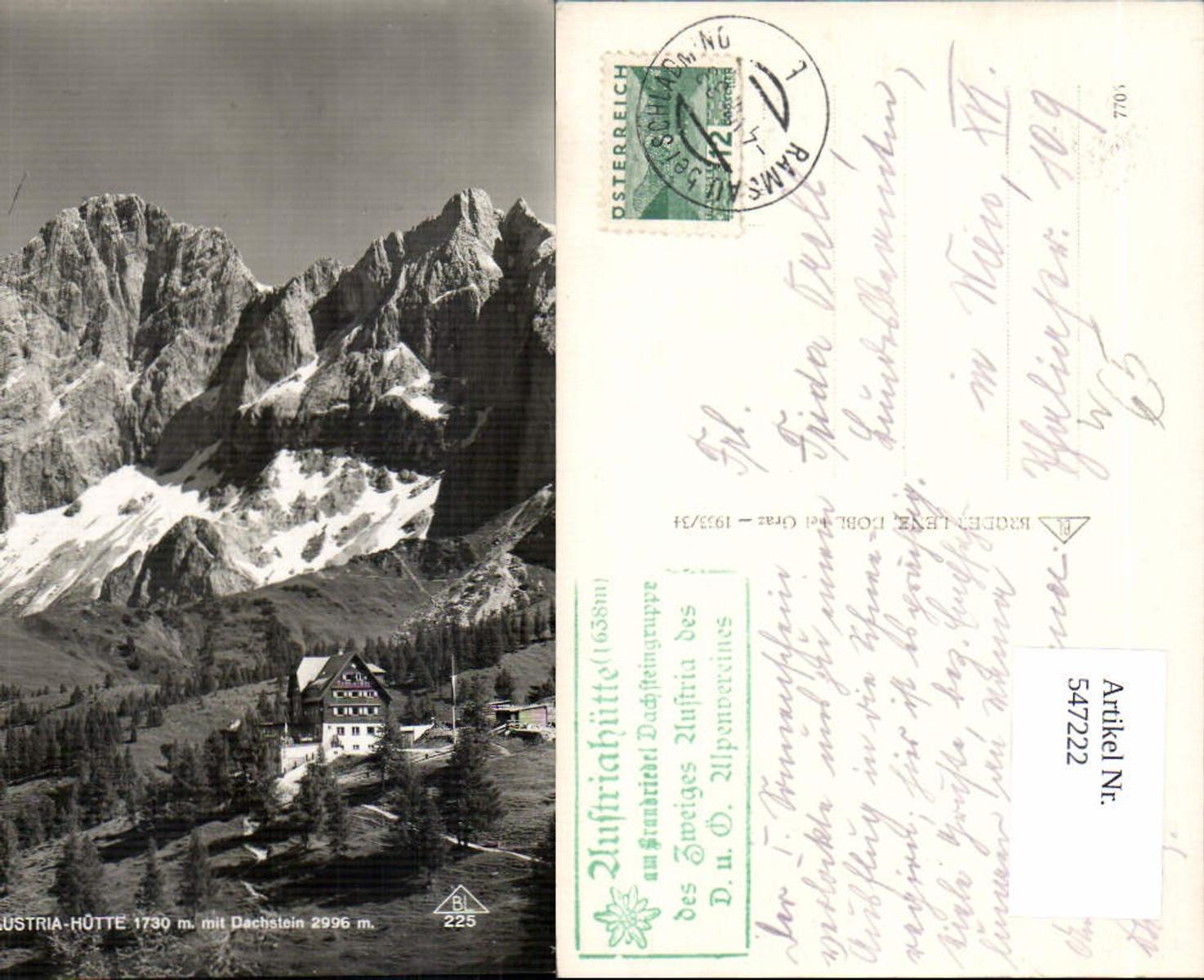 547222,Austriahütte mit Dachstein b. Ramsau Schladming  günstig online kaufen