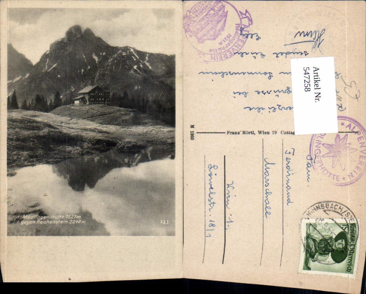 547258,Mödlinger Hütte bei Admont Johnsbach Gesäuse Reichenstein  günstig online kaufen