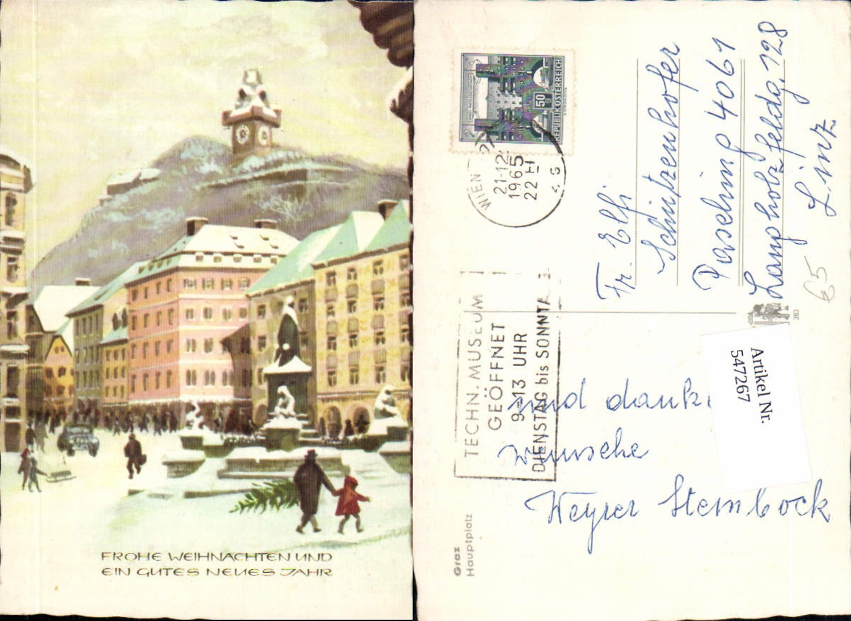 547267,Weihnachten Graz Uhrturm Hauptplatz günstig online kaufen