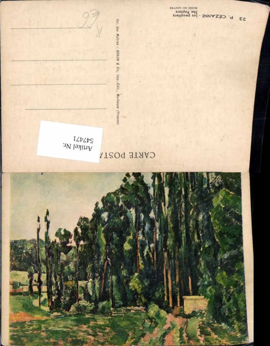 547471,Künstler AK Paul Cezanne Les Peupliers günstig online kaufen