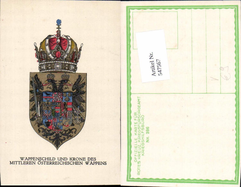 547567,K.K. Armee Patriotik Wappen Österreich pub Kriegsfürsorge 286 günstig online kaufen