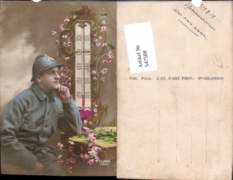 547588,Französische Armee Soldat Uniform Helm Liebesthermometer günstig online kaufen