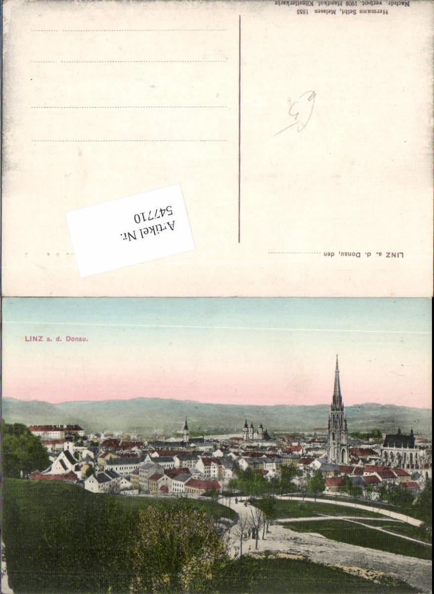 547710,Linz an der Donau Freinberg Partie handkolorierte Künstlerkarte günstig online kaufen