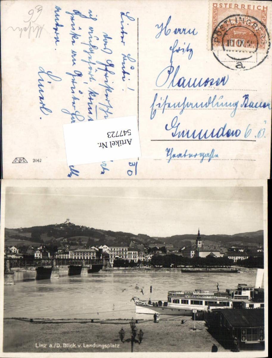 547723,Linz an der Donau Landungsplatz Urfahr Dampfer günstig online kaufen