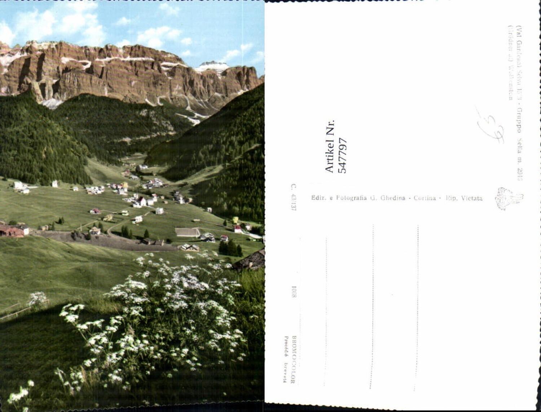 547797,tolle AK Trentino Bolzano Gröden St. Ulrich Grödental Wolkenstein günstig online kaufen