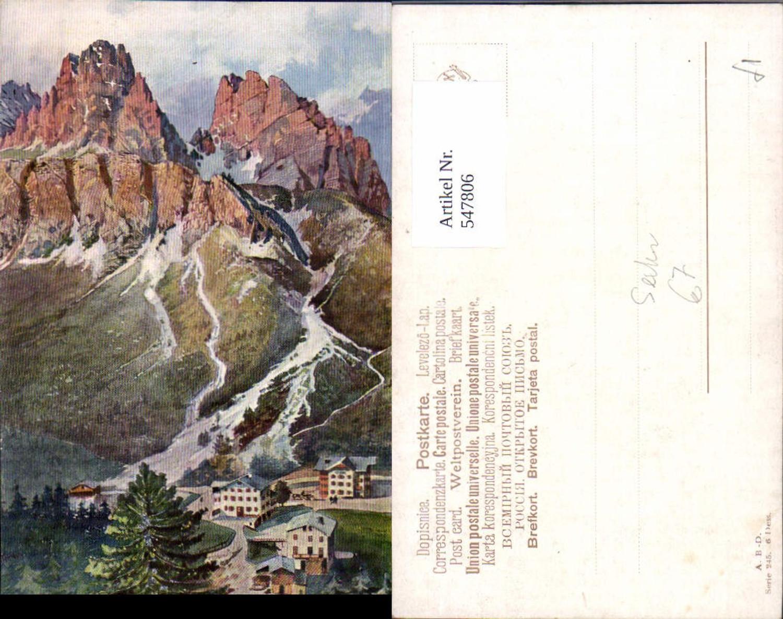 547806,Künstler AK Treiber Trentino Bolzano Sexten Drei Zinnen Hotel  günstig online kaufen