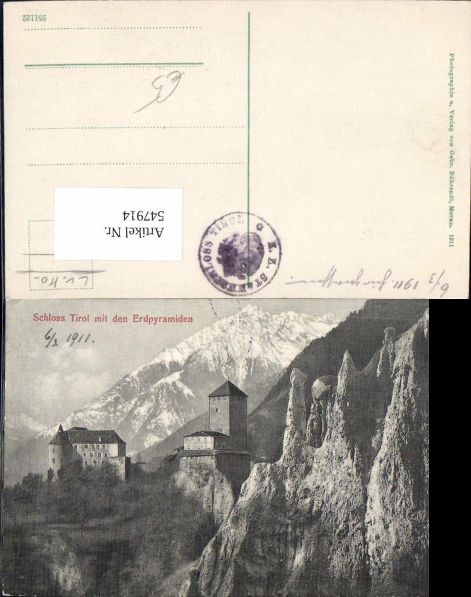 547914,Trentino Bolzano Schloss Tirol b. Meran Merano Erdpyramiden günstig online kaufen