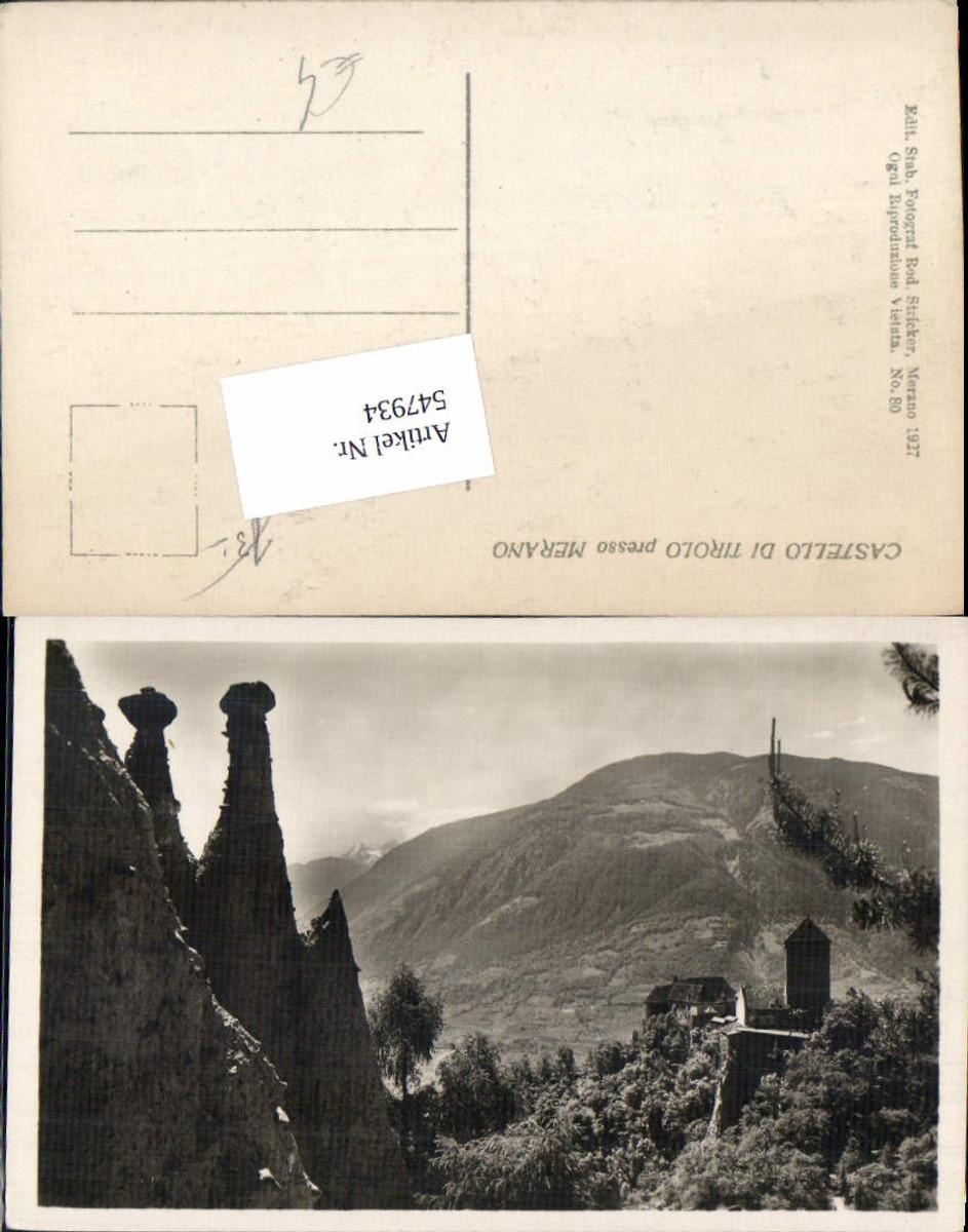 547934,Trentino Bolzano tolle Foto-AK Schloss Tirol Meran Merano Tirolo pub Stricker günstig online kaufen