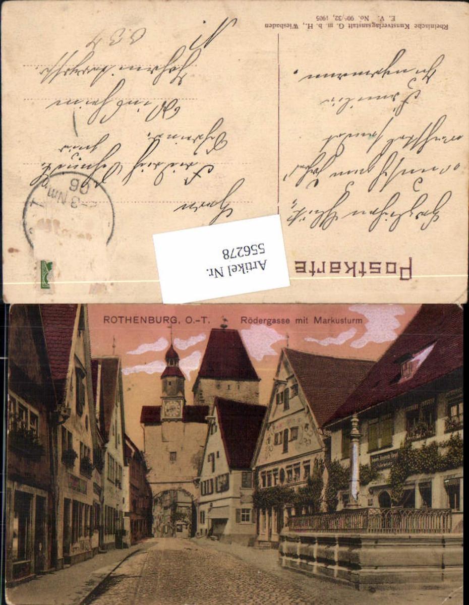 556278,Rothenburg ob der Tauber Rödergasse Markusturm günstig online kaufen