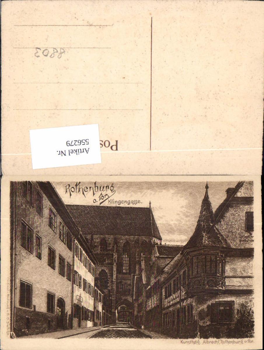 556279,Künstler AK Radierung G.O. Dietrich Rothenburg ob der Tauber  günstig online kaufen