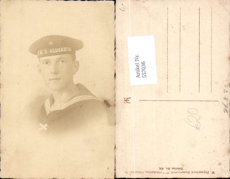 557036,tolle Foto-AK Matrose S.M.S. Oldenburg Seemann Uniform Marine Kriegsmarine pub Feyerabend Wilhelmshaven günstig online kaufen
