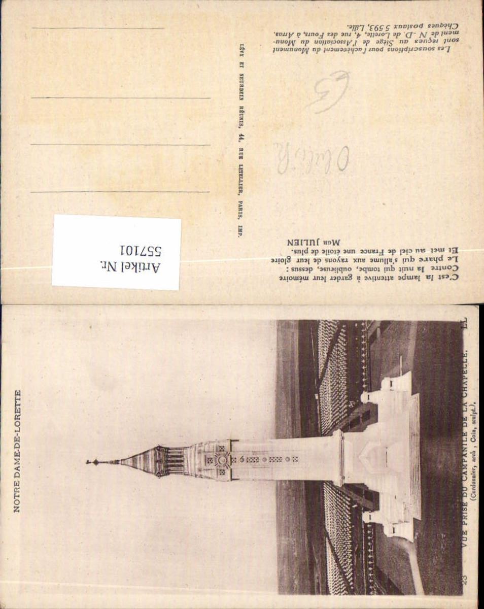 557101,Notre Dame de Lorette Kriegsgräber Gräber Friedhof Tod Campanile de la Prise günstig online kaufen