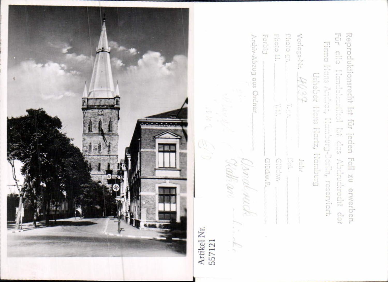 557121,Foto-AK Verlagsrohabzug Osnabrück beflaggt Katharinenkirche günstig online kaufen